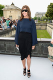 Carine Roitfeld posed for photographers before the Christian Dior show on Monday.