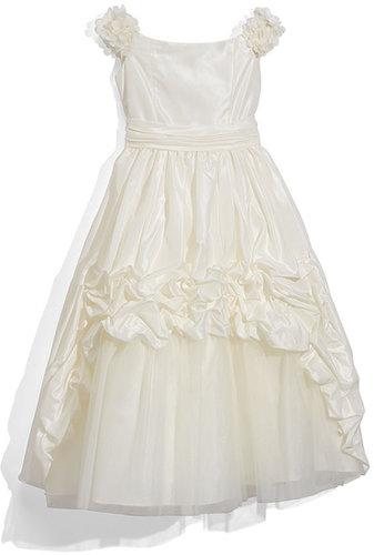 Joan Calabrese for Mon Cheri Taffeta Dress (Little Girls & Big Girls)