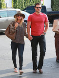 Henry Cavill and Kaley Cuoco held hands on their way into a grocery store in LA.