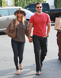 Henry Cavill and Kaley Cuoco held hands while walking to a grocery store in LA.