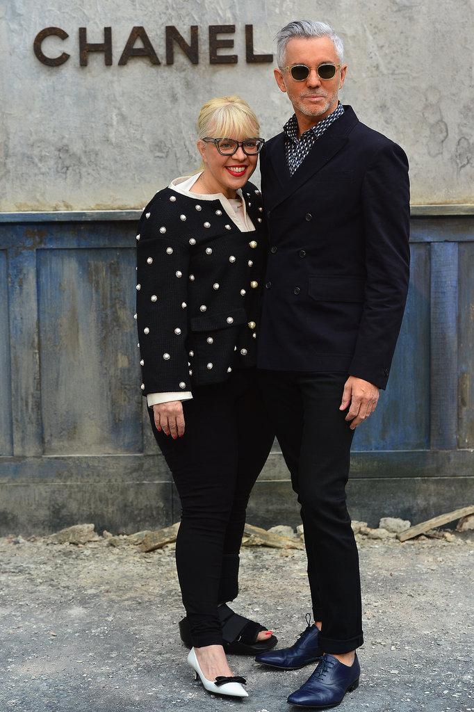 Catherine Martin and Baz Luhrmann were a stylish pair at the Chanel show on Tuesday.
