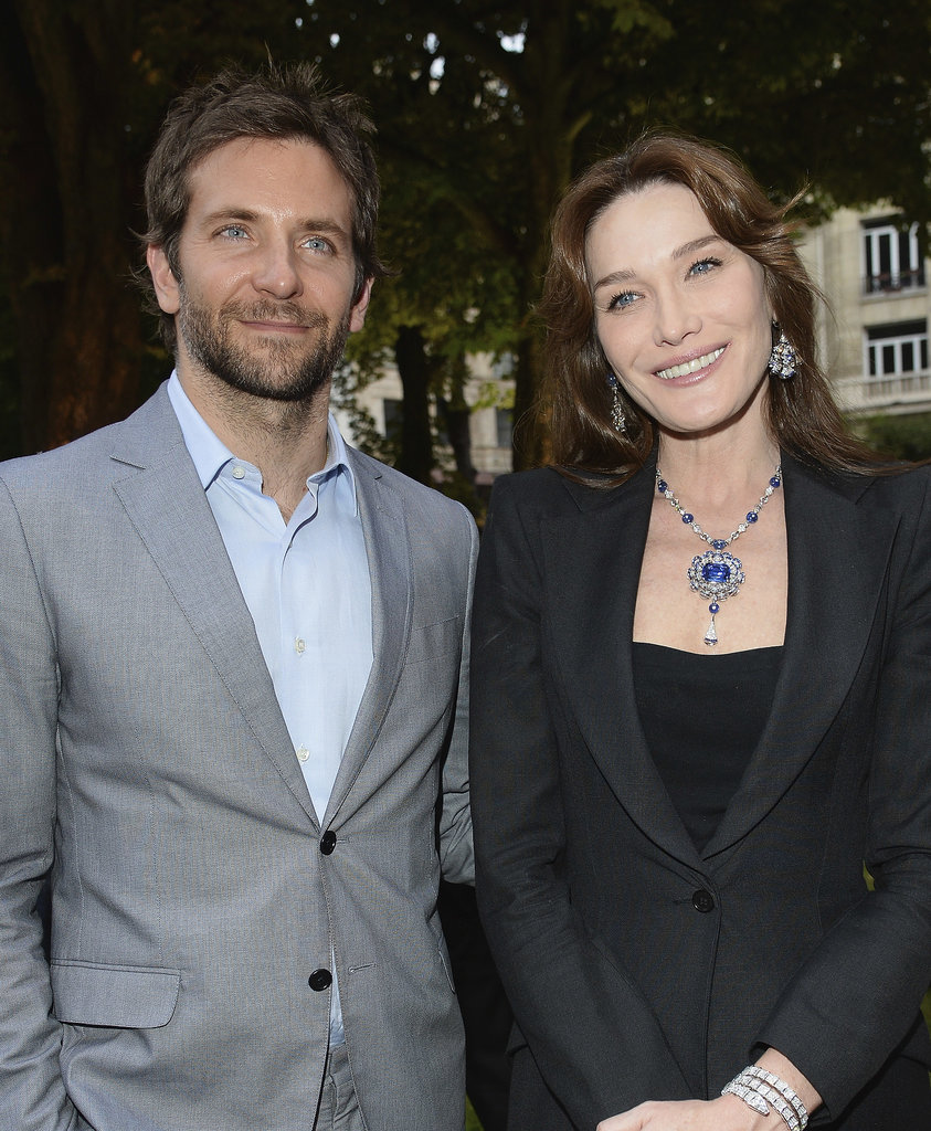 Bradley Cooper Charms Former First Lady Carla Bruni-Sarkozy in Paris