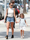 Nicole Richie took a stroll with her daughter, Harlow Madden, in LA in July 2013.
