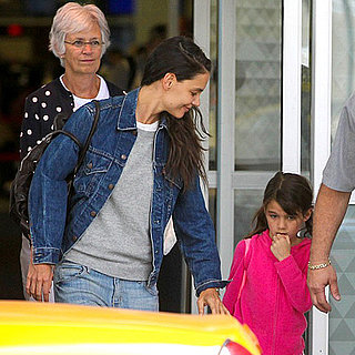 Katie Holmes and Suri Cruise Land at JFK | Pictures