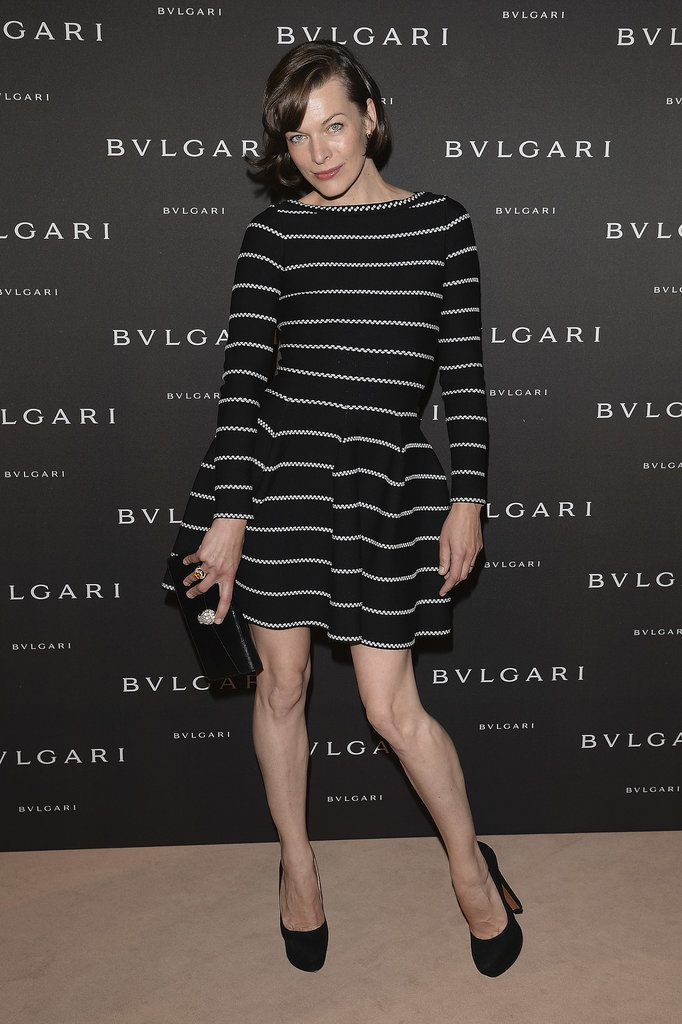 Milla Jovovich at the unveiling of the Bulgari Diva fine jewelry collection in Paris.  Photo courtesy of Bulgari