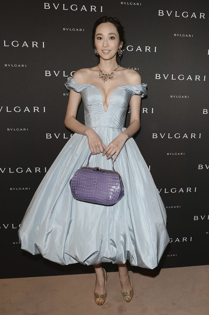 Pace Wu at the unveiling of the Bulgari Diva fine jewelry collection in Paris.  Photo courtesy of Bulgari