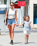 Instead of the usual denim cutoffs and tee pairing, look to Nicole Richie's unique duo. Tuck a sleeveless, mock-collar top into your shorts, then cinch your waist with a studded belt. Add aviator sunglasses and ankle boots for further flair.