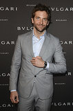 Bradley Cooper at the unveiling of the Bulgari Diva fine jewelry collection in Paris.  Photo courtesy of Bulgari