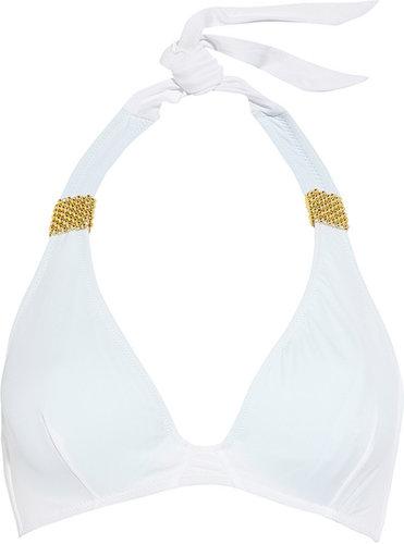 Eda Esmeralda snake-print halterneck bikini top
