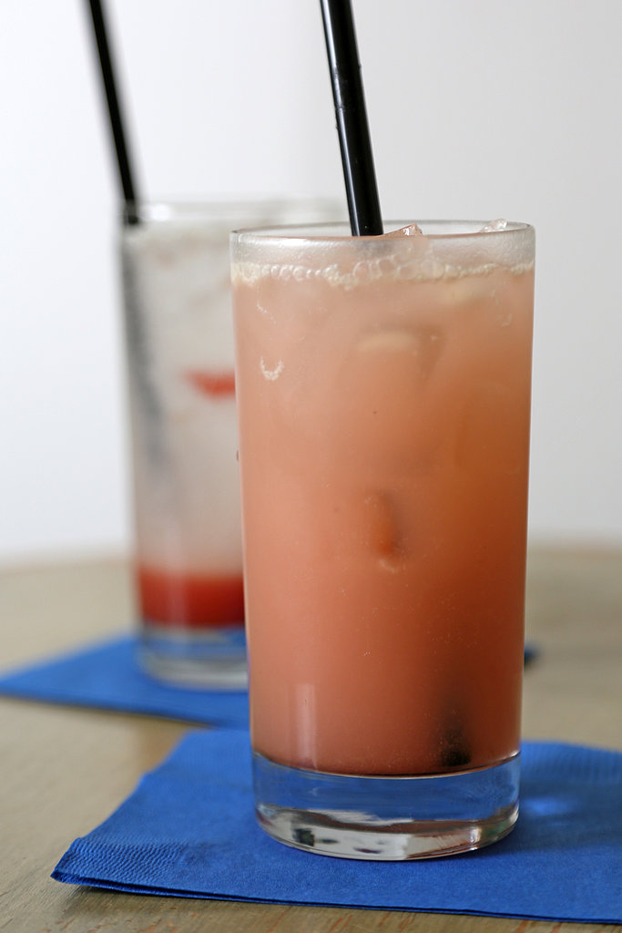 Replace bubbly rose with this lovey pink rhubarb soda feels as festive as it is refreshing.