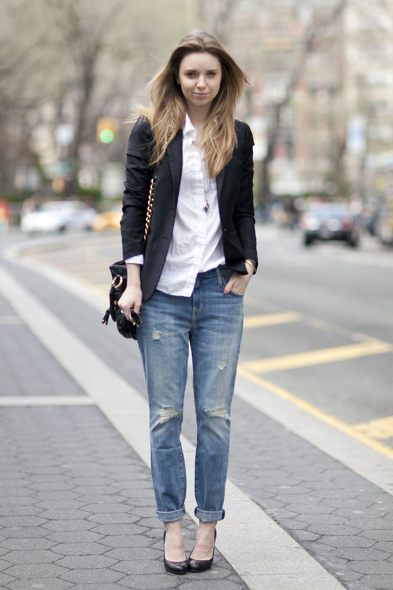 Take your favorite button-down and jeans to work with a blazer and | Oh Snap! More Than 100 ...