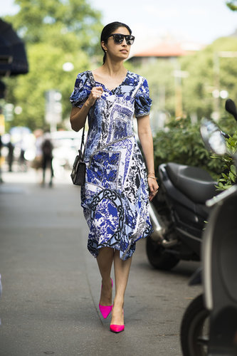 Caroline Issa's brand of ladylike is perfect for stealing on a hot Summer day. Source: Le 21ème | Adam Katz Sinding