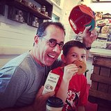 Jerry Seinfeld and Julian Seinfeld got ready to Summer in the Hamptons with doughnuts, coffee, and chocolate. Source: Instagram user jessseinfeld