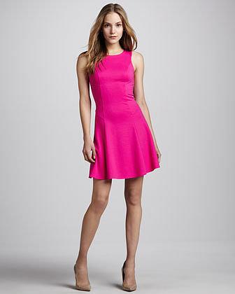 Amanda Uprichard Fit & Flare Ponte Dress