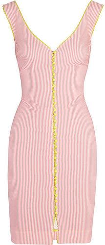 Rosamosario Lovers En Space striped cotton-blend dress