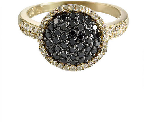 EFFY COLLECTION Black Diamond Ring in 14 Kt. Yellow Gold, .65 ct. t.w.