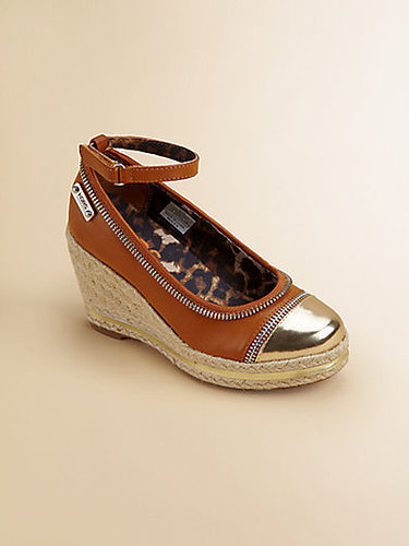 Girl's Mirrored Wedge Pumps