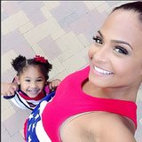 Christina Milian snapped a selfie with her daughter, Violet. Source: Instagram user christinamilian