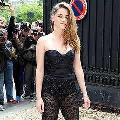 Kristen Stewart in Lace Zuhair Murad Jumpsuit in Paris