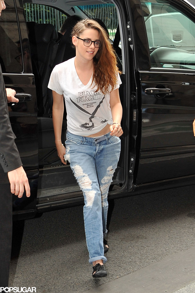 Kristen Stewart Keeps Her Braids as She Returns Home to LA