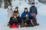 Crown Princess Mary and Crown Prince Frederik of Denmark took their brood of four — Princess Isabella, Princess Josephine, Prince Vincent and Prince Christian — on a skiing holiday in Verbier, Switzerland in Feb. 2013.
