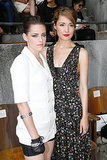 Kristen Stewart and Australian actress Rose Byrne posed for the cameras ahead of the star-studded Chanel show at fashion week on July 2.