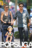 Miranda Kerr and Orlando Bloom took Flynn to Central Park.