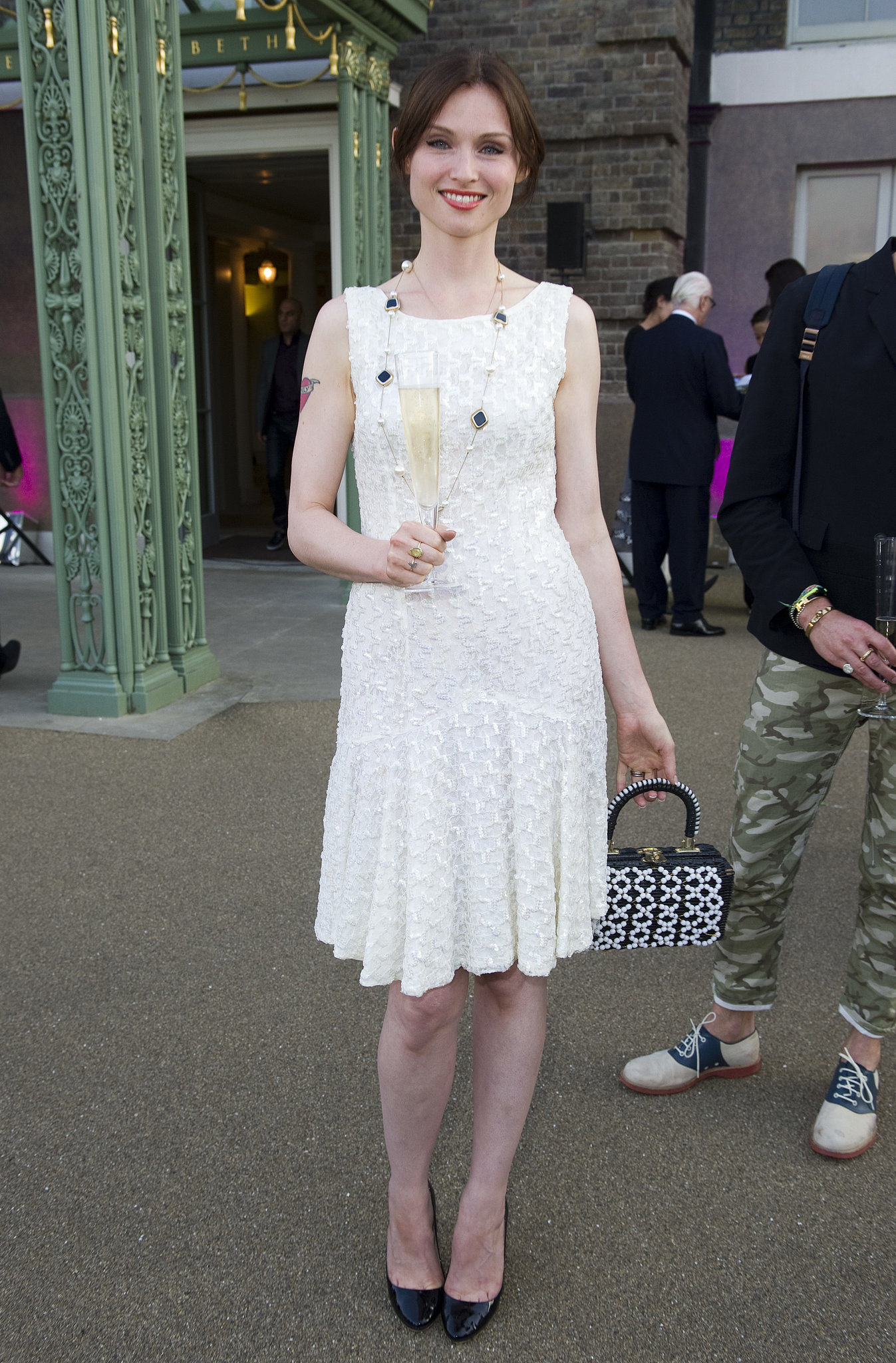 Sophie Ellis-Bextor raised a glass to the Fashion Rules exhibition at the London launch.
