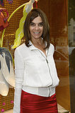 Wearing a red and white combo, Carine Roitfeld feted the opening of the Loewe boutique in Paris.  Source: Loewe