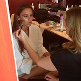 Victoria Beckham got her makeup done with the help of Stila Cosmetics. Source: Instagram user victoriabeckham