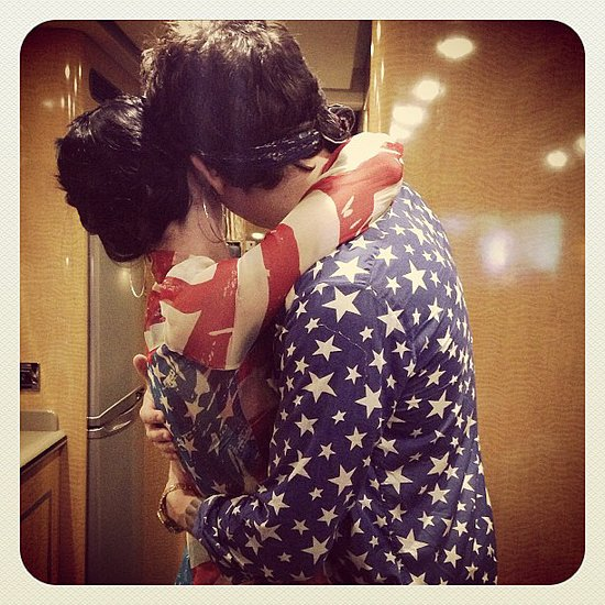Katy Perry cozied up to her on-again boyfriend, John Mayer, while sporting stars and stripes at Philadelphia's Fourth of July Jam. Source: Instagram user katyperry