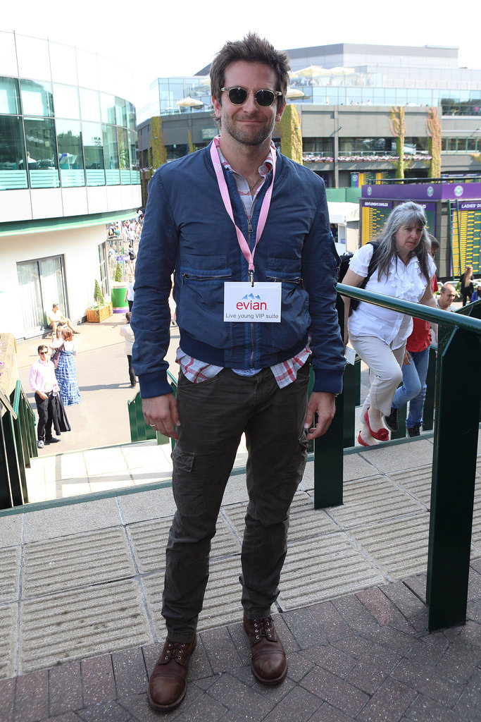 Bradley Cooper popped up in London for the Wimbledon championship match on Friday.