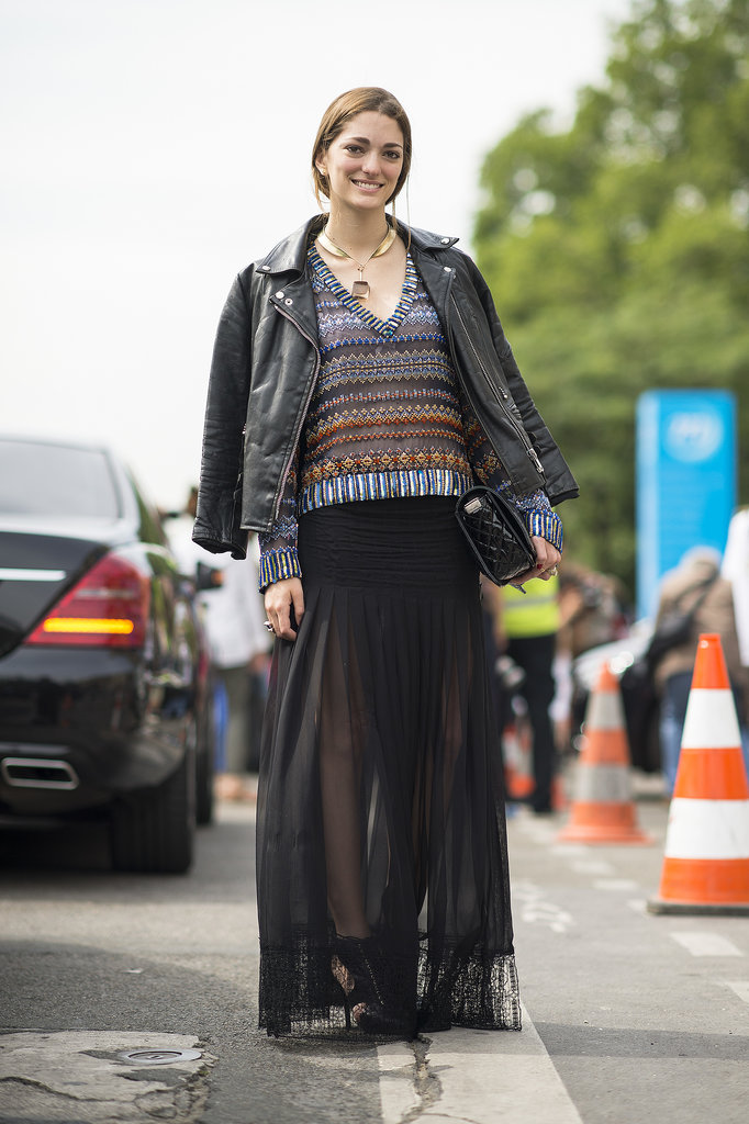 On a steamy day, make a maxi more weather friendly by picking a sheer fabric. Source: Le 21ème | Adam Katz Sinding