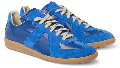 Maison Martin Margiela Suede and Leather-Panelled Sneakers