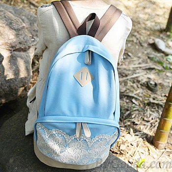 Fresh Simple Cute Lace Canvas Backpacks