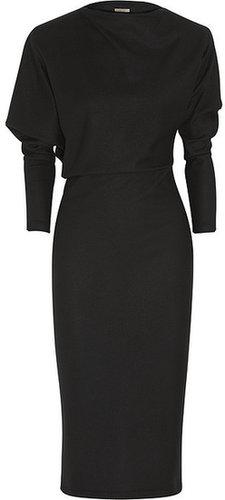 Bottega Veneta Asymmetric brushed-wool jersey dress