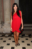 Sofia chose a fiery red swing dress and chocolate t-strap sandals for a Miami gala in December 2008.