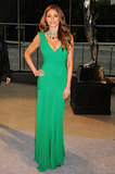 Sofia glowed at the 2013 CFDA Fashion Awards, donning an emerald-green body-hugging Hervé L. Leroux gown with jaw-dropping Lorraine Schwartz jewels and romantic curls.