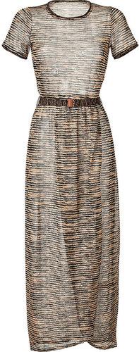 Missoni Mare Metallic Variegated Knit Maxi Dress