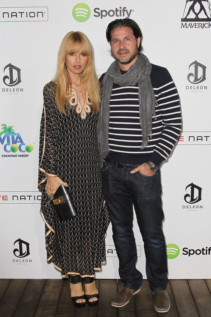 In Malibu, Rachel Zoe and Rodger Berman looked laid-back in coordinating black and white ensembles for Guy Oseary's Independence Day party.