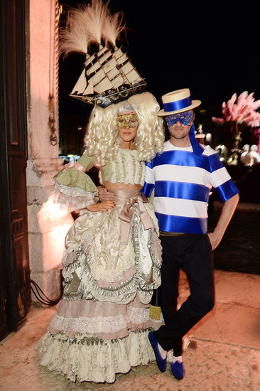 True to form, Anna Dello Russo got into the spirit in an over-the-top and ornate costume.