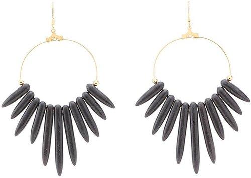 Kenneth Jay Lane - 6794EDB Earrings (Black) - Jewelry