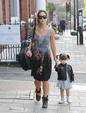 Myleene Klass took her daughter Hero to school in London on Friday.