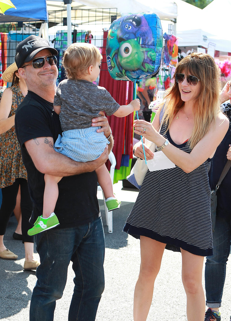 Selma Blair took her son, Arthur, to a farmers market in LA on Sunday.