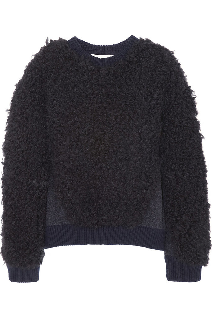We're wild for anything with must-touch-now sort of texture. Stella McCartney must have heard us, creating this shearling-esque sweatshirt ($885).