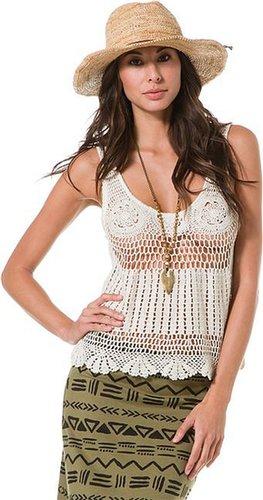Billabong Shayla Crochet Knit Tank