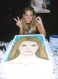 Jessica Simpson was happy to celebrate her 20th birthday in July 2000 with a personalized cake.