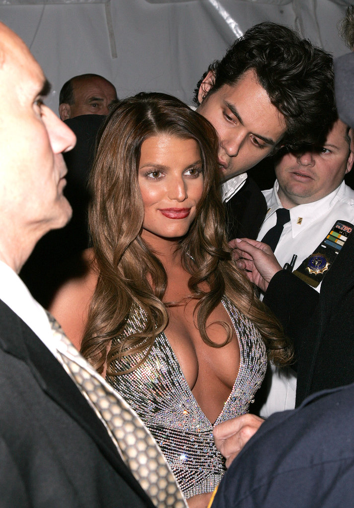 Jessica Simpson wore a memorable dress to attend the Met Gala with John Mayer in May 2007.