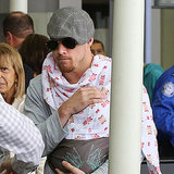 Channing Tatum Holding Baby Everly at LAX Airport Pictures