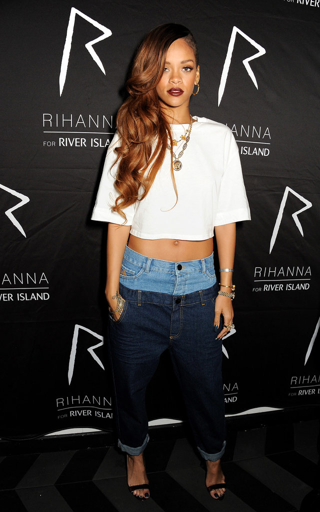 "Rihanna's dressed-down style was a fitting match for the casual, gritty vibe of British brand River Island. And good news: if you loved the first batch of designs from March, get ready for round two. River Island just announced the Fall collection will be available Sept. 12. Of the line, the label's co-designer Adam Selman promises, ""We had a lot more fun this time round."""